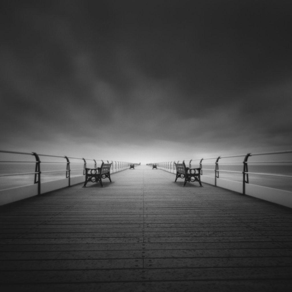 Looking down the pier at Salburn in Teeside.