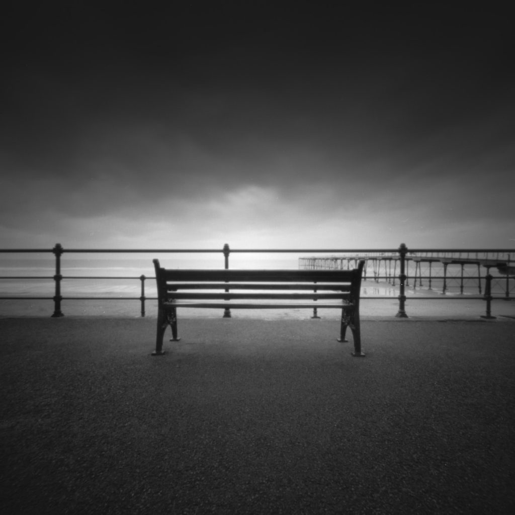 Looking across to the North Sea from the Promenade at Saltburn in Teeside.